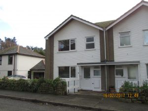 A 3 bedroomed duplex dwelling.